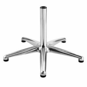 Kiela Fünffuß aus poliertem Aluminium Ø 68 cm mit Gleitern