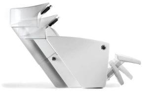 Höhenverstellbare Kiela Waschanlage mit Beinstütze